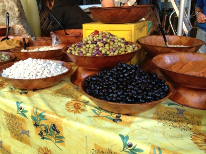 Olives and tapenade are always a good start with this crowd...