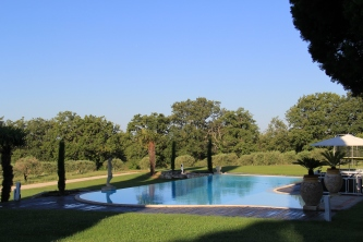 ... or perhaps a glass of rosé and a dip in the pool first.