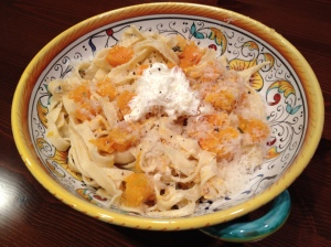 Sage Roasted Butternut Squash with Fresh Ricotta and Grated Parmigiano Reggiano