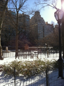 …playgrounds blanketed in snow...