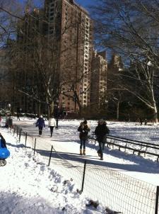 …along Central Park's paths...