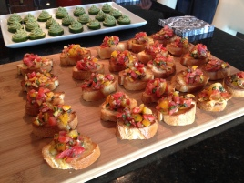 You can never go wrong with bruschetta...