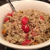 Jazzed up orzo pasta.